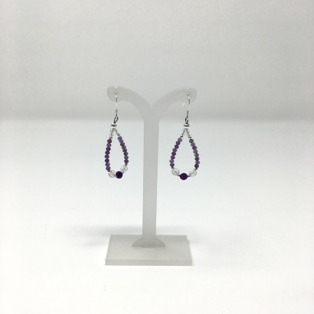 amethyst earrings, crystal earrings, divine connection, psychic, source