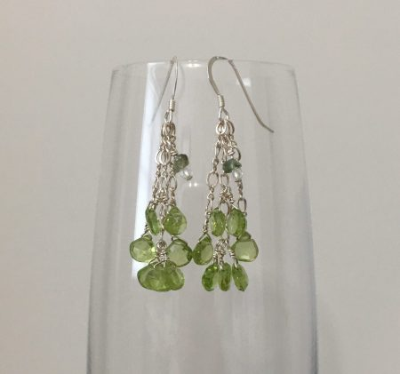 peridot earrings, reiki earrings, healing earrings, psychic earrings, empowerment jewelry