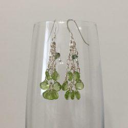 peridot earrings, reiki earrings, healing earrings, psychic earrings, empowerment jewelry