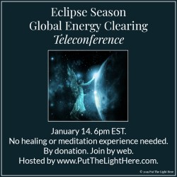 earth angel by margaret giles, eclipse season, global energy clearing, healing teleconference