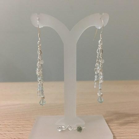 divine light, crystal earrings, pure light, topaz earrings