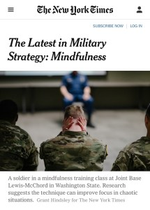 mindfulness in the military, military yoga, meditation military, energy healing military