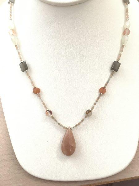 moonstone necklace, moonstone jewelry, psychic jewelry, develop intuition, feminine energy