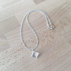clear quartz necklace, clear quartz pendant, clear quartz, quartz necklace, quartz pendant