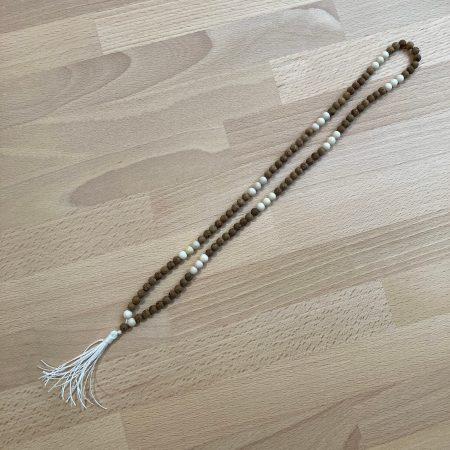 wood mala, 108 beads, stone mala, ottawa mala, mala men