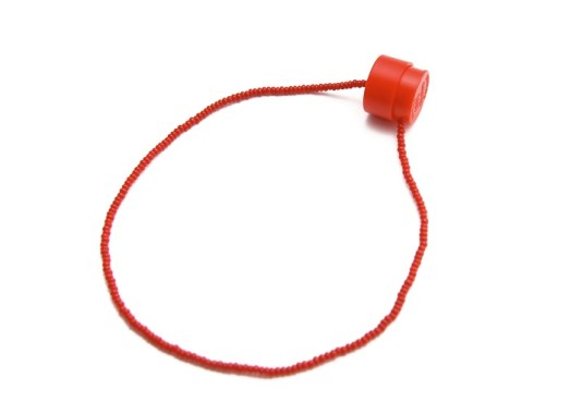 fitting red necklace silk glas plastic 2