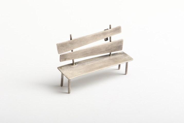 "Liisa Hashimoto ""Bench"", brooch – silver 925′"