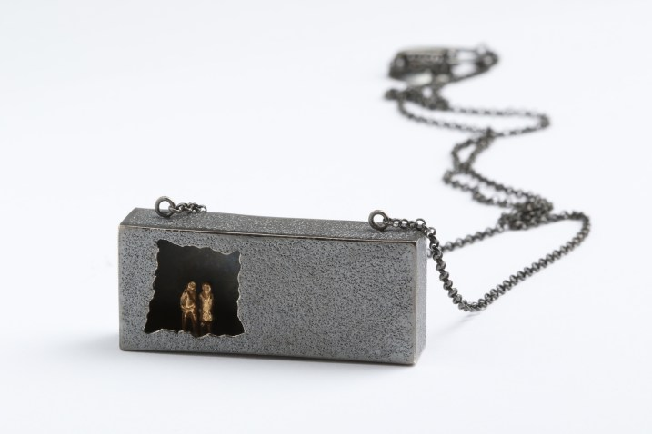 Simeon Shomov ''Closer'', necklace - silver 925′, gold plated 24k