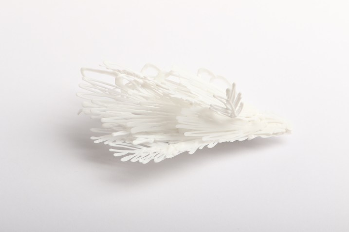 Sofia Björkman ''What has the bird done'', brooch - polylactide, silver 925'