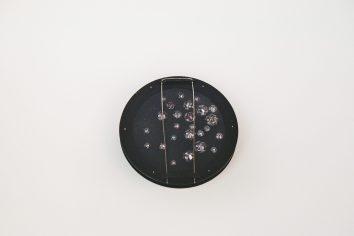 Triin Kukk, brooch – stainless steel, steel, silver 925′, plastic