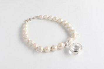 Valdis Brože, kaklarota - kalnu kristāls, sudrabs 925', pērles