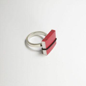 Ana Cardim, Book ring - paper, silver, elastic