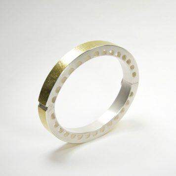 Andris Lauders, bracelet - silver 925, gold 750