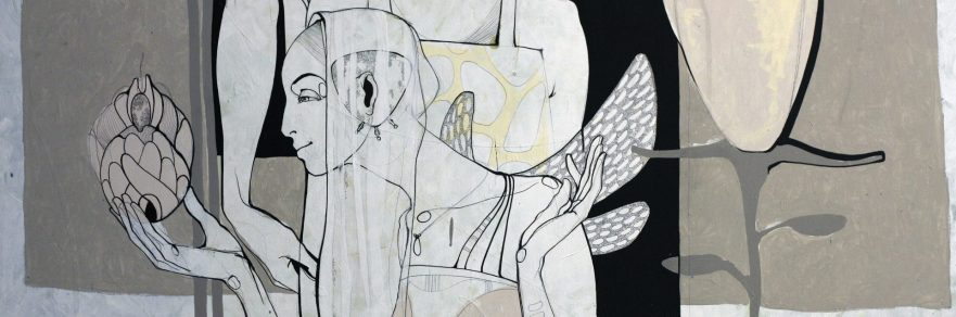 Roberts Koļcovs, Purpose, painting – canvas, acrylic paint, ink, graphite