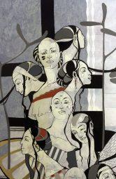 Roberts Koļcovs, Union, painting - canvas, acrylic paint, ink, graphite