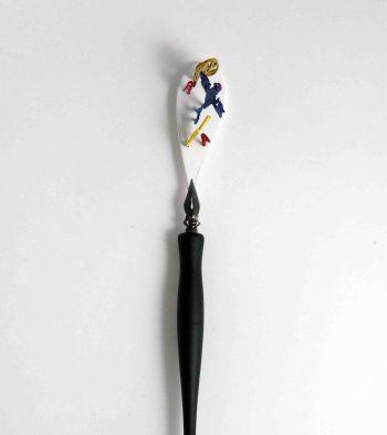 "Villu Plink, brooch ""J.T."" - Painted silver, plastic. Photo - Villu Plink"