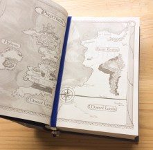 Ribbon bookmark across the world map in ACOWAR.