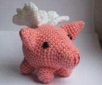muñeco cerdito tejido a crochet ganchillo