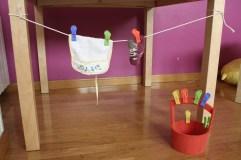 soga de juguete para colgar la ropa