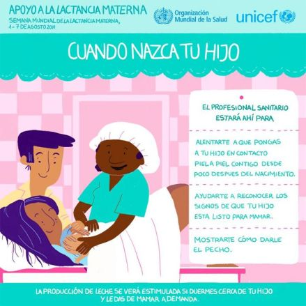 Unicef aportó una serie de láminas informativas muy completas y actualizadas