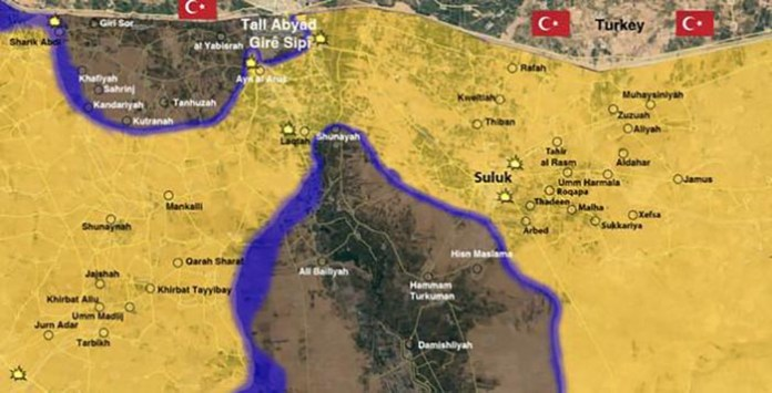 Mapa kontrole Tel ebjeda i okolnih područja