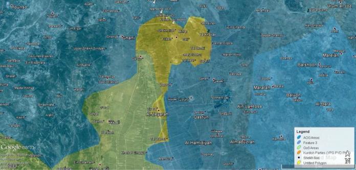 Oblast koja je osvojena u skorasnjoj ofanzivi, preko 20 naselja i kontrolnih tacaka