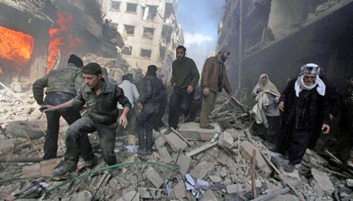Scena nakon bombardovanja Dume, 24. august 2015
