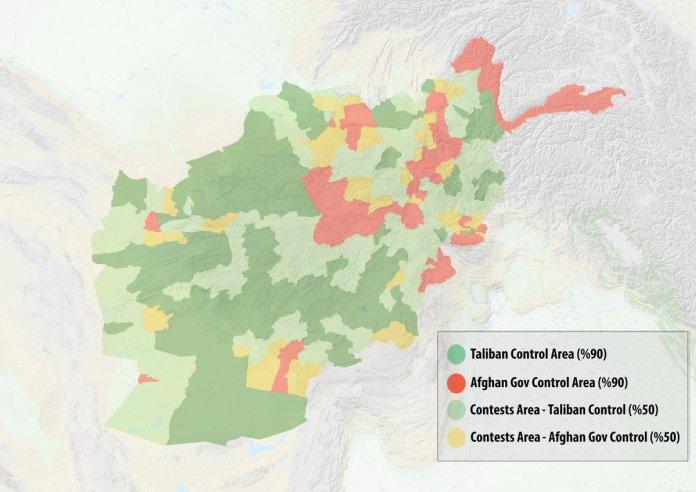 Mapa Afganistana