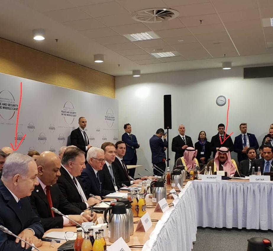 Natanjahu i arapski lideri u Varšavi