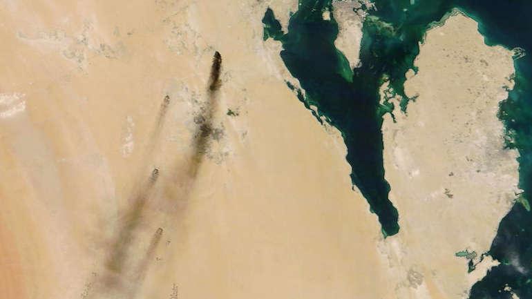 Naftna polja satelitski snimak