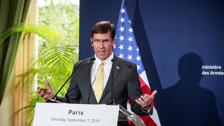 Mark Esper in Paris