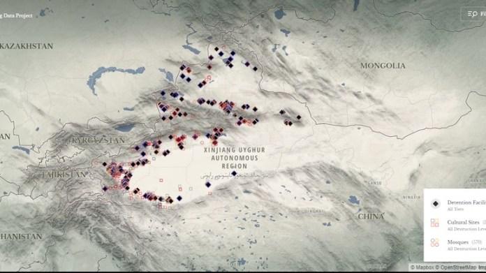 Mapa kampova u Istočnom Turkistanu
