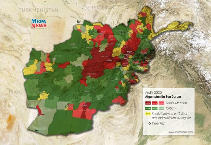 Mapa Afganistana 2020
