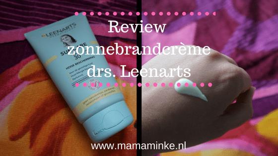 Laat de zon maar komen met drs. Leenarts zonnebrandcrème (review)