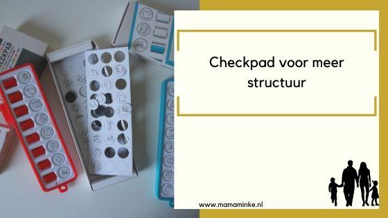 Checkpad, voor meer structuur tijdens het thuisblijven