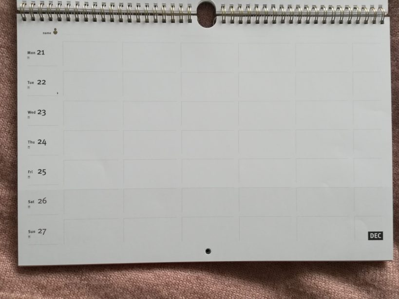 Gezinsplanner week