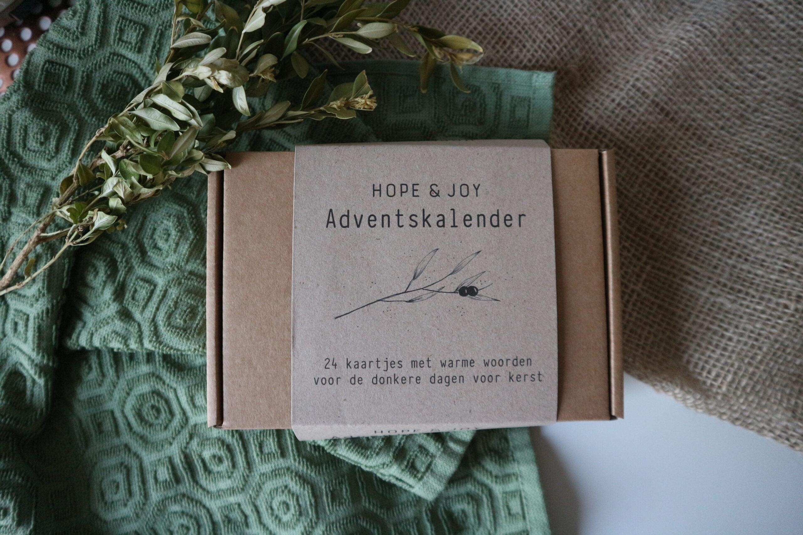 Minimalistische advenstkalender van Hope & Joy