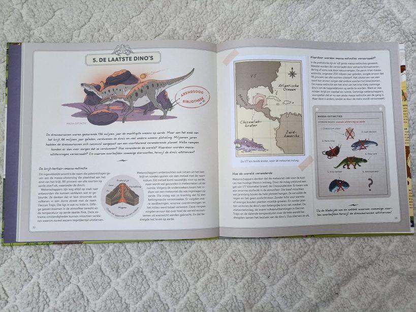 kaartje in De wereld van de dinosaurussen