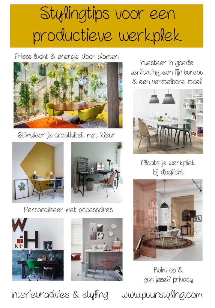 werkplek stylingstips puur styling interieuradvies groningen bedrijven en particulieren