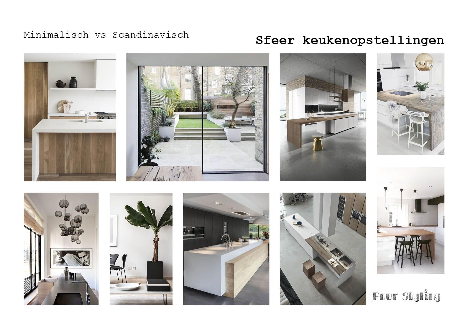 Scandinavisch zwar wit hout keukenindeling
