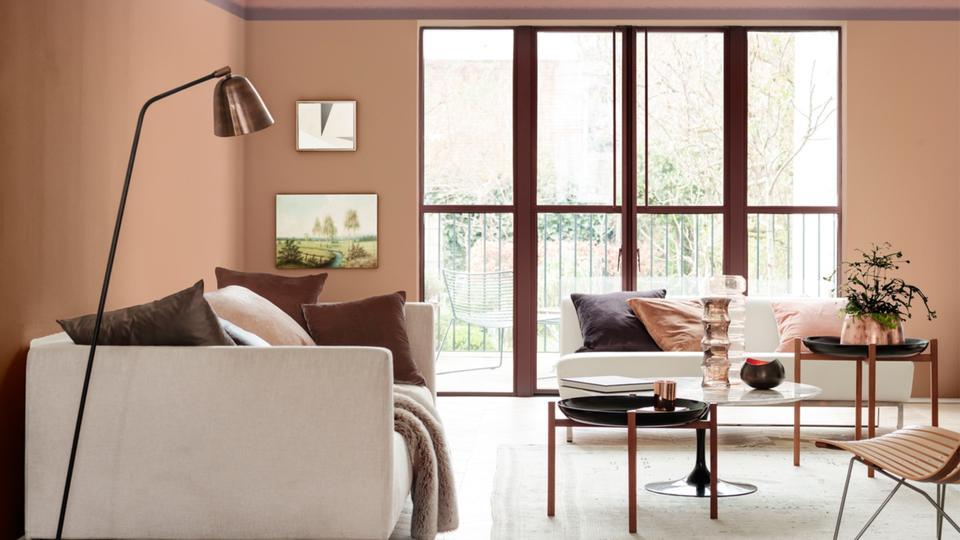 Flexa kleur van het jaar 2018 elegant comfort woonkamer inspiratie
