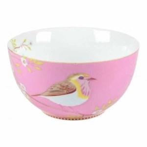 Pip studio lintu kulho vaaleanpunainen