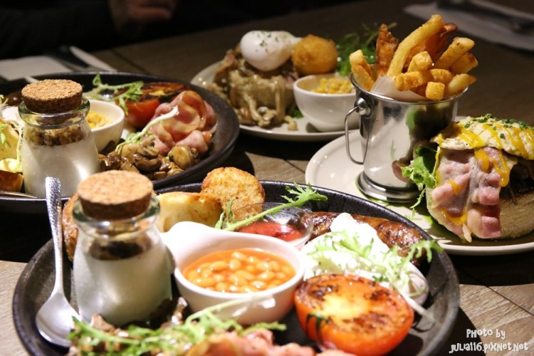 【Basil Le Bistrot】中正區。好澎湃!免出國也能享受傳統英式早午餐♥♥(捷運忠孝新生站/華山文創園區)