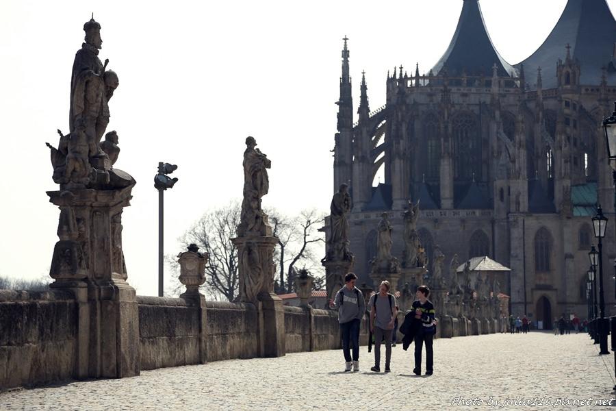 【捷克自助】庫特納霍拉(Kutná Hora)。世界文化遺產~聖芭芭拉大教堂(Chrám svaté Barbory)