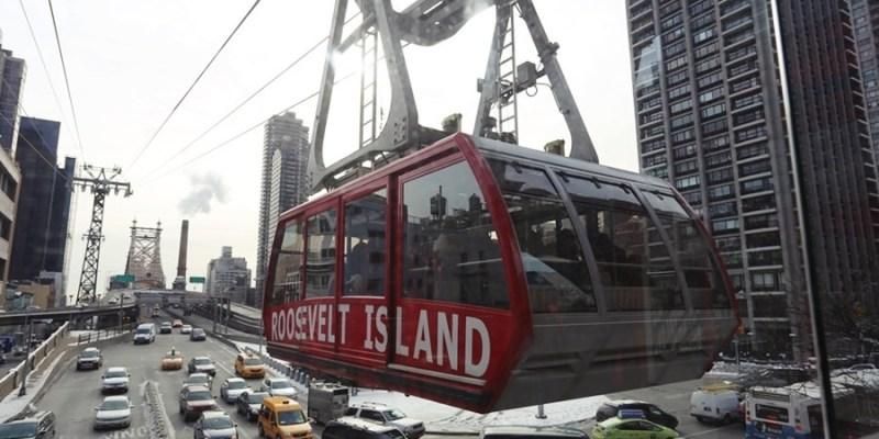 【冬季大蘋果】曼哈頓。搭乘空中纜車來去羅斯福島(Roosevelt Island)