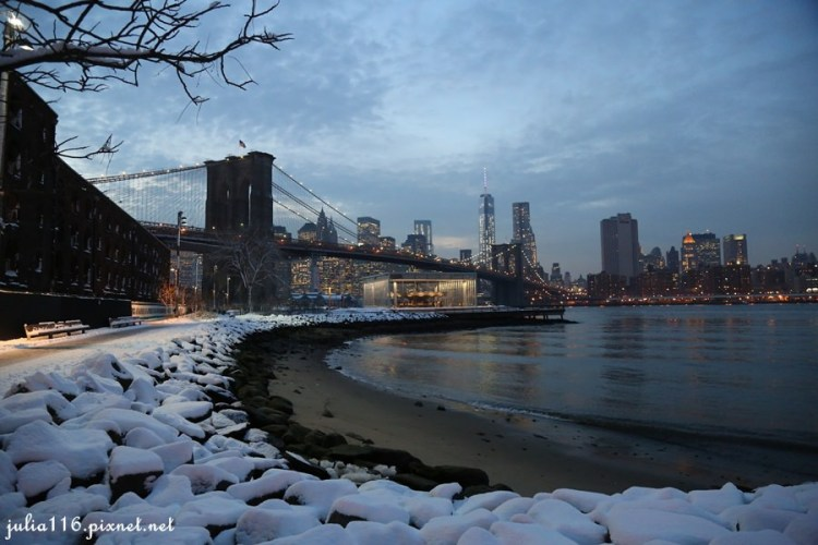 【冬季大蘋果】布魯克林夜景ღ令人心醉的慾望城市!