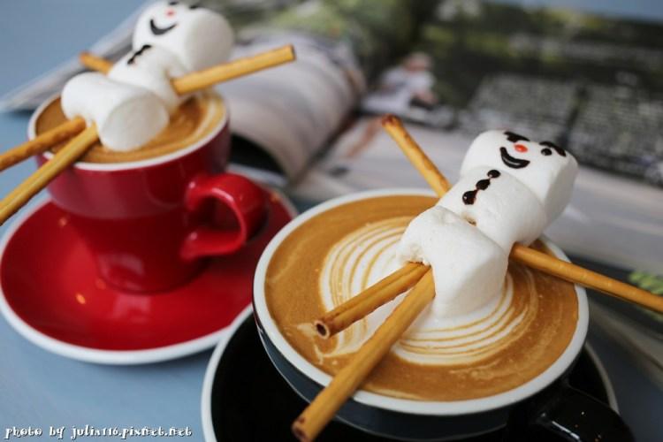 【Coffee & People】台中市西區。超吸睛!療癒系棉花糖雪人咖啡,台中不限時Cafe推薦!(草悟道/向上路)