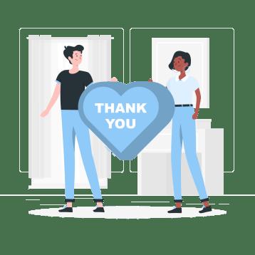 感謝の画像