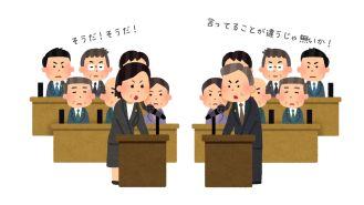 議論の画像