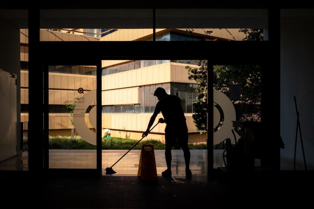 ビル清掃員の画像